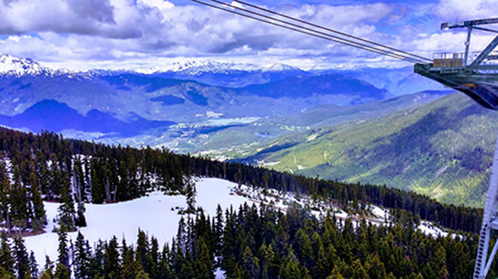 Awesome Entertainment Travel Blog Canada Scenic View in Whistler - Gondola